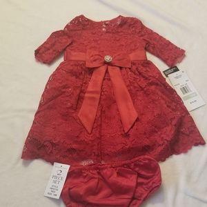 Baby girls lace dress & panty set